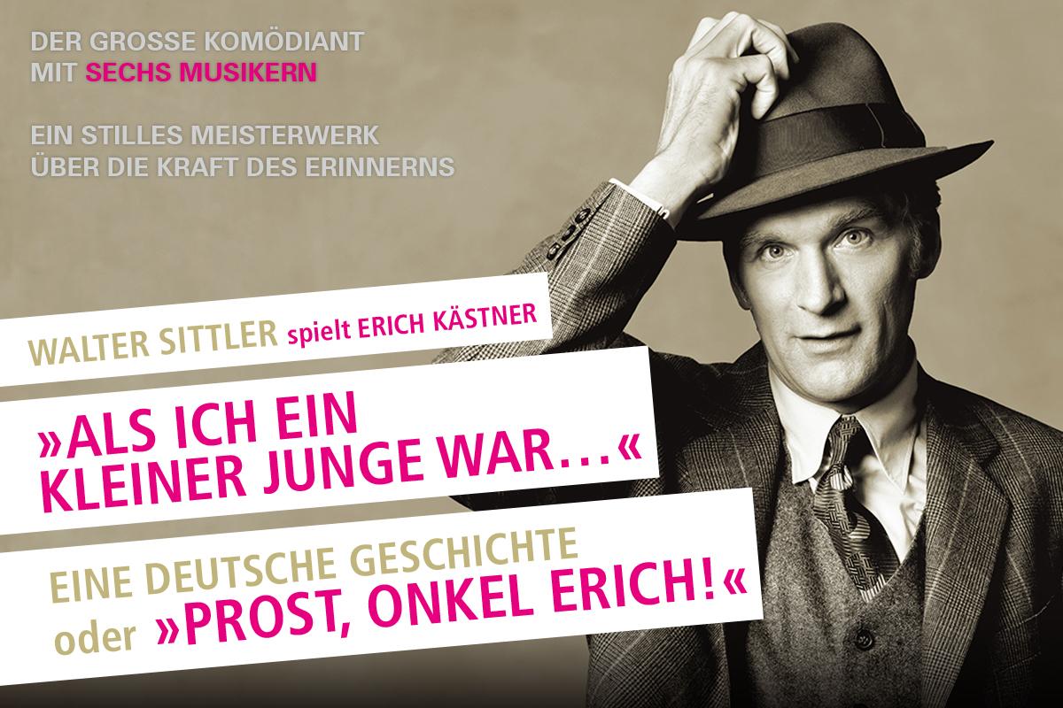 Walter Sittler spielt Erich Kästner - 03. & 04.08.2019 in Mannheim, Nationaltheater